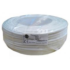 Cable manguera redonda 2x1mm blanco rollo de 100 metros Ibercable