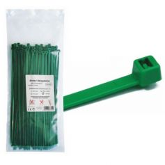 Brida nylon verde 365x7.6 bolsa 100 unidades MercaTools