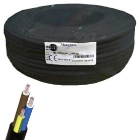 Cable manguera redonda 3x1,5mm negro (rollo de 100 mts) Ibercable