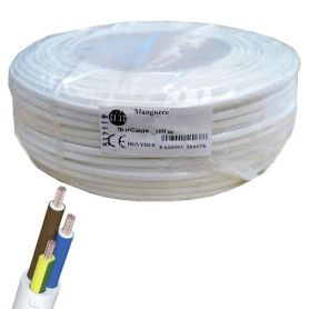 Cable manguera redonda 3x1mm blanco (rollo de 100 mts) Ibercable