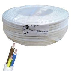 Cable manguera redonda 3x2,5mm blanco (rollo de 100 mts)