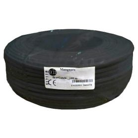 Cable manguera redonda 2x0,75mm negro (rollo de 100 mts) Ibercable