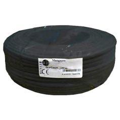Cable manguera redonda 2x0,75mm negro (rollo de 100 mts) Ibercable