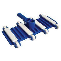 Limpiafondos piscina flexible con contrapesos y ruedas Kokido