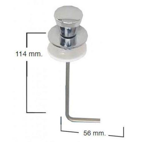 Tirador vertical cisterna baja cromado tipo 4 TV4A Fominaya