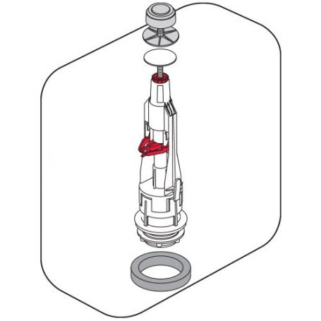 Campana universal cisterna baja Tyfon 3G 5 con base y juntas Fominaya