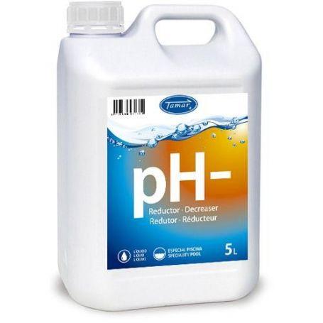 Reductor pH piscinas precio líquido 5 lts fusion Tamar