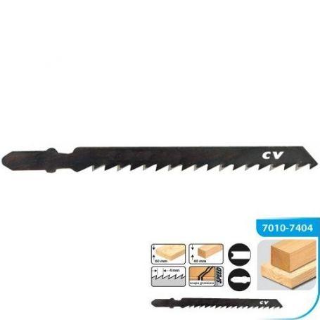 Hoja de sierra calar para madera universal l7 5pas 4mm (blt 3 uds) leman