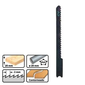 Hoja de sierra calar para madera l55 pas 2mm b&d (blt 3 uds) leman