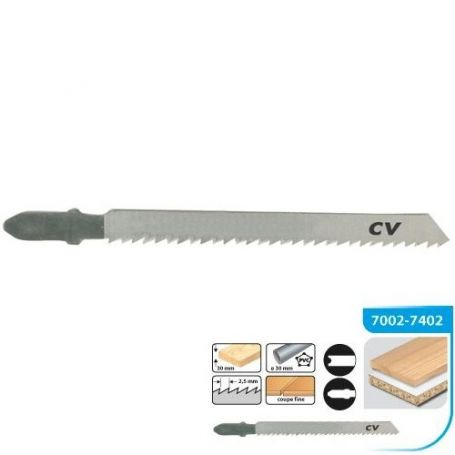 Hoja de sierra calar para madera universal 75 paso 2.5mm (blt 3 uds) leman