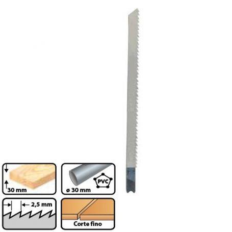 Hoja de sierra calar para metal b&d l55 paso 2.5 mm (blt 3 uds) leman