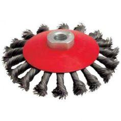 Cepillo metálico cuveta 100mm M14 hilo acero trenzado 0.35 Leman