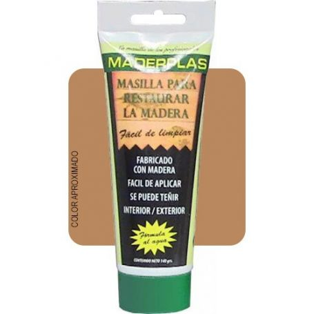 Masilla para restaurar la madera Maderplas cerezo 140gr Promasal