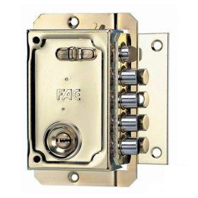Cerradura de sobreponer Fac S 90 P - 70mm derecha dorado