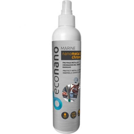 Protector acero inoxidable aluminio nano metal y cromado spray 250ml Econano