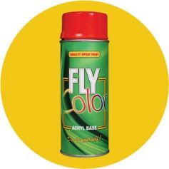 Pintura Fly ral en spray brillo amarillo trafico 200ml Motip