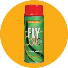 Pintura Fly ral en spray brillo amarillo melón 200ml Motip