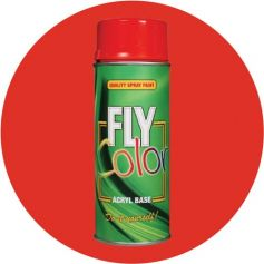 Pintura Fly en spray brillo ral 3000 rojo fuego 200ml Motip