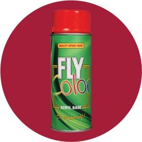 Pintura Fly en spray brillo ral 3003 rojo rubí 200ml Motip