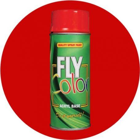 Pintura Fly en spray brillo ral 3020 rojo tráfico 200ml Motip