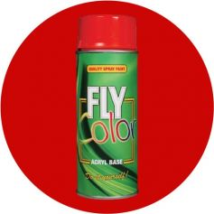 Pintura Fly en spray brillo ral 3020 rojo tráfico 200ml Motip