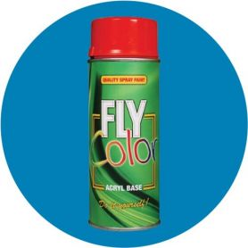 Pintura Fly en spray brillo ral 5012 azul lucido 200ml Motip