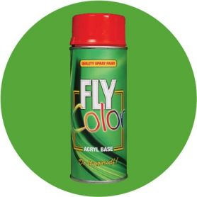 Pintura Fly en spray brillo ral 6018 verde amarillo 200ml Motip