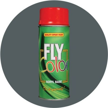 Pintura Fly en spray brillo ral 7011 gris hierro 200ml Motip
