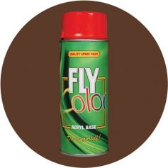 Pintura Fly en spray brillo ral 8011 marrón nogal 200ml Motip