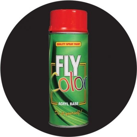Pintura Fly en spray ral 9005 negro satinado 200ml Motip