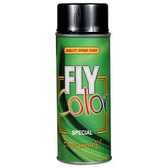 Pintura fly metalizado en spray negro 200ml Motip