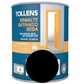Esmalte al agua negro satinado seda 4 lt. Tollens