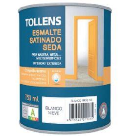 Esmalte al agua blanco satinado seda 0,75 lt. Tollens