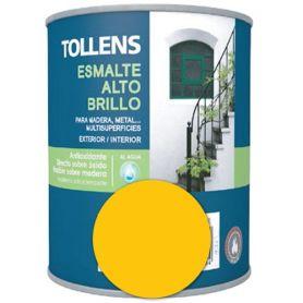 Esmalte al agua amarillo medio alto brillo 0,25 lt. Tollens