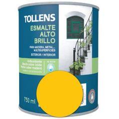Esmalte al agua amarillo medio alto brillo 0,75 lt. Tollens