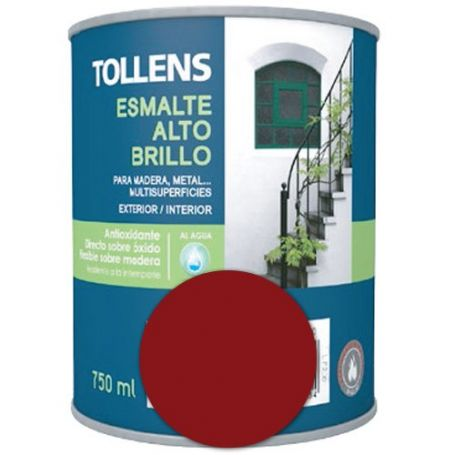 Esmalte al agua rojo carruajes alto brillo 0,75 lt. Tollens