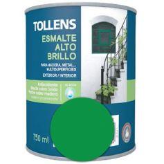 Esmalte al agua verde hierba alto brillo 0,75 lt. Tollens