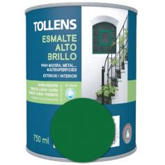 Esmalte al agua verde mayo alto brillo 0,75 lt. Tollens