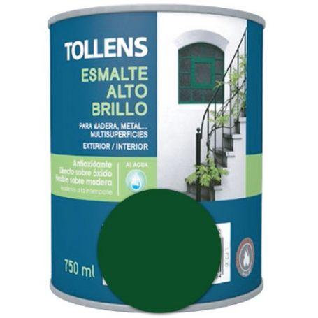 Esmalte al agua verde carruajes alto brillo 0,75 lt. Tollens