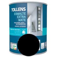 Esmalte al agua negro extra mate 4 lt. Tollens