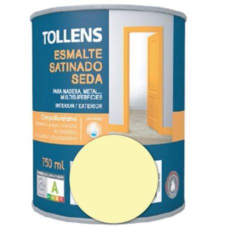 Esmalte al agua marfil satinado seda 0,75 lt. Tollens