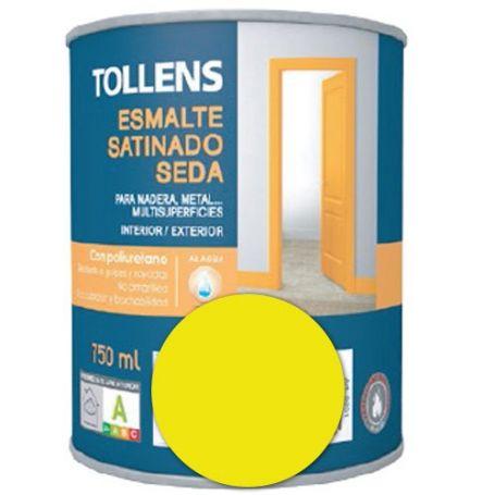 Esmalte al agua amarillo lima satinado seda 0,75 lt. Tollens