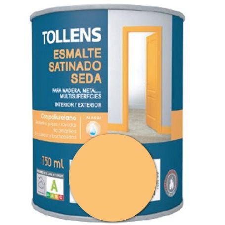 Esmalte al agua amarillo real satinado seda 0,75 lt. Tollens