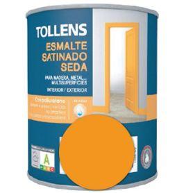 Esmalte al agua amarillo medio satinado seda 0,25 lt. Tollens