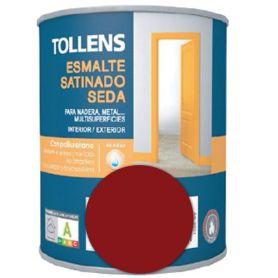 Esmalte al agua granate satinado seda 0,25 lt. Tollens
