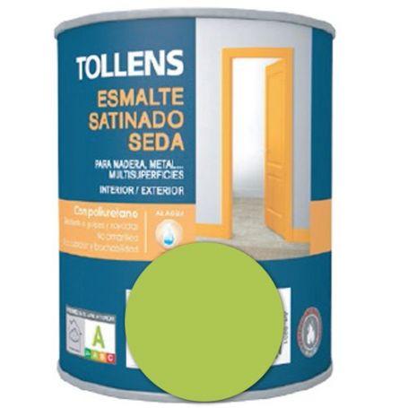 Esmalte al agua verde menta satinado seda 0,25 lt. Tollens