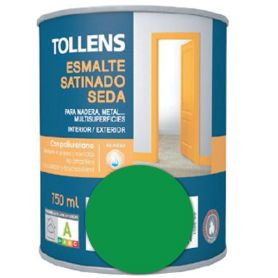 Esmalte al agua verde hierba satinado seda 0,75 lt. Tollens