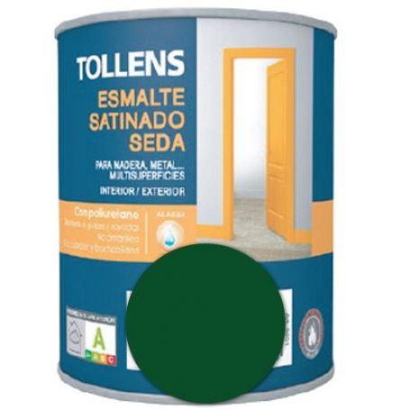 Esmalte al agua verde carruajes satinado seda 0,25 lt. Tollens
