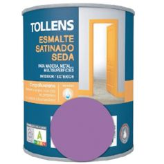 Esmalte al agua lila satinado seda 0,25 lt. Tollens