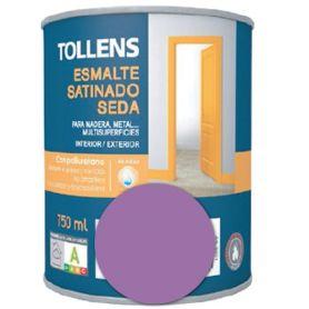 Esmalte al agua lila satinado seda 0,75 lt. Tollens